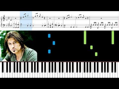 Billy Ray Cyrus - Achy Breaky Heart - Piano EASY - Sheet Music - COUNTRY