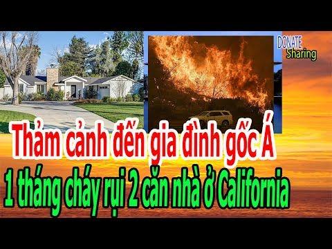 Th,ả,m c,ả,nh đ,ế,n gi,a đ,ì,nh g,ố,c Á, 1 th,á,ng ch,á,y r,ụ,i 2 căn nhà ở Ca,li,fornia