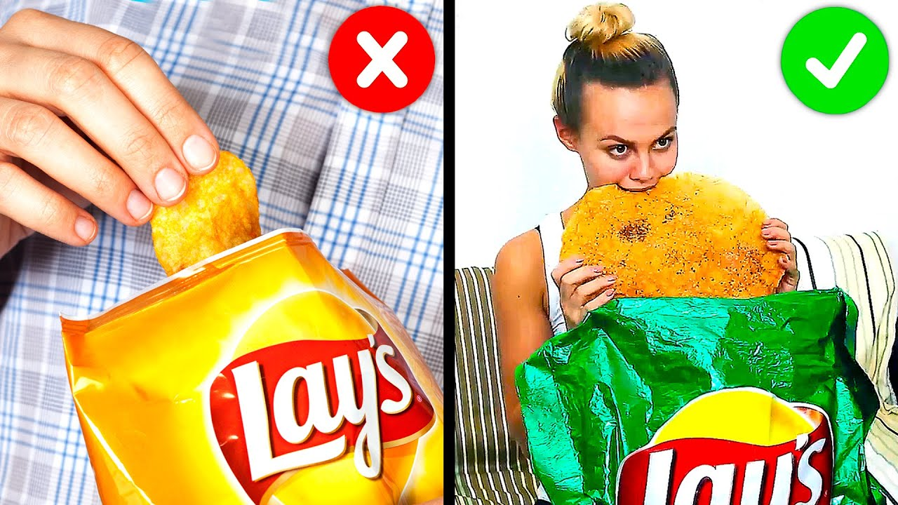34 Cool Hacks With Your Favorite Food Youtube