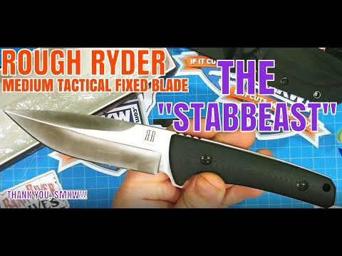 ROUGH RIDER MEDIUM TACTICAL FIXED BLADE: STABBEAST TO HIS FRIENDS!!!