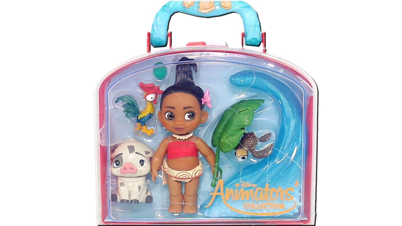 Disney Animators Collection Mini Doll Playset Moana Unboxing Toy Review Youtube