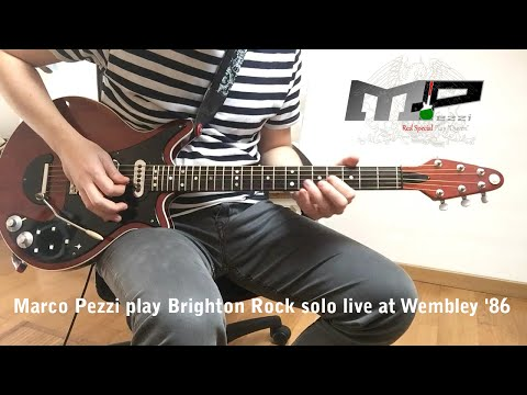 Brian May - Brighton Rock Live Solo At Wembley 86 - Played By Marco Pezzi