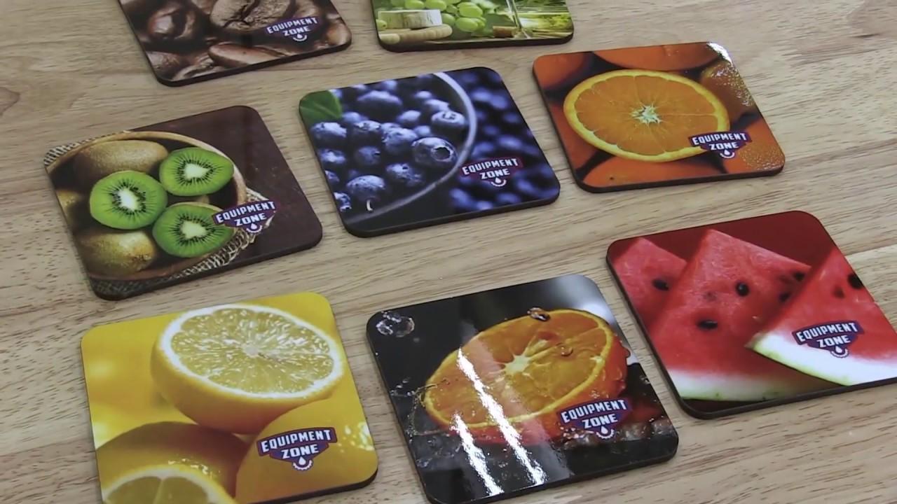 Creating custom coasters using the Epson F6200 Dye Sublimation Printer