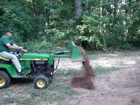 John Deere 332 >> John Deere 332 With Buford Bucket Moving Dirt - YouTube