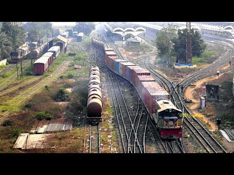 A Cargo Train Left Kamlapur ICD, Dhaka, Bangladesh
