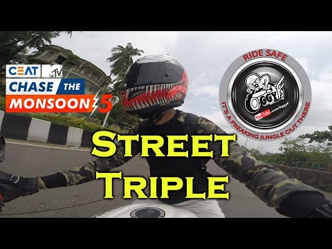 Triumph Street Triple - SC Project | Vlog -MTV Ceat Chase the monsoon