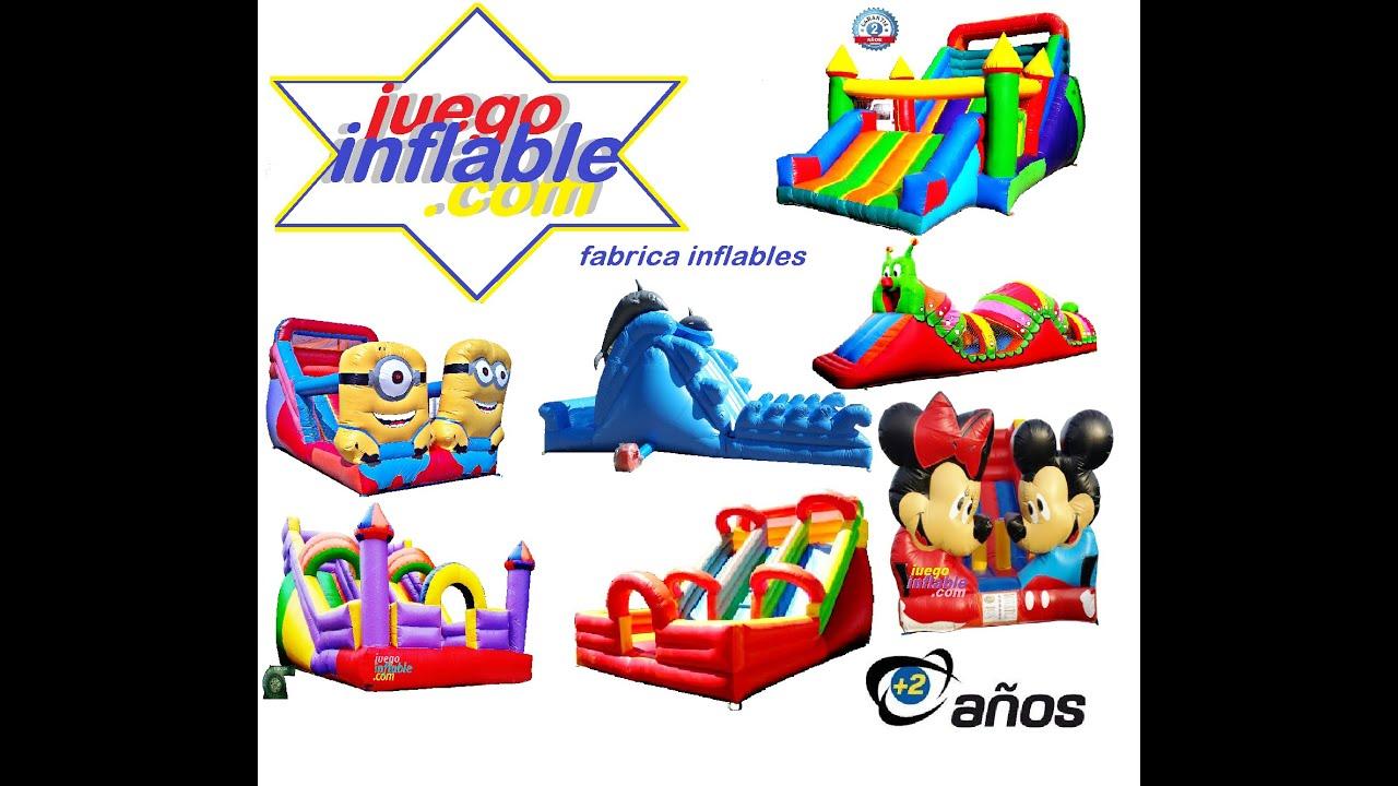 Catalogo precios juegos inflables youtube for Precio de piletas inflables