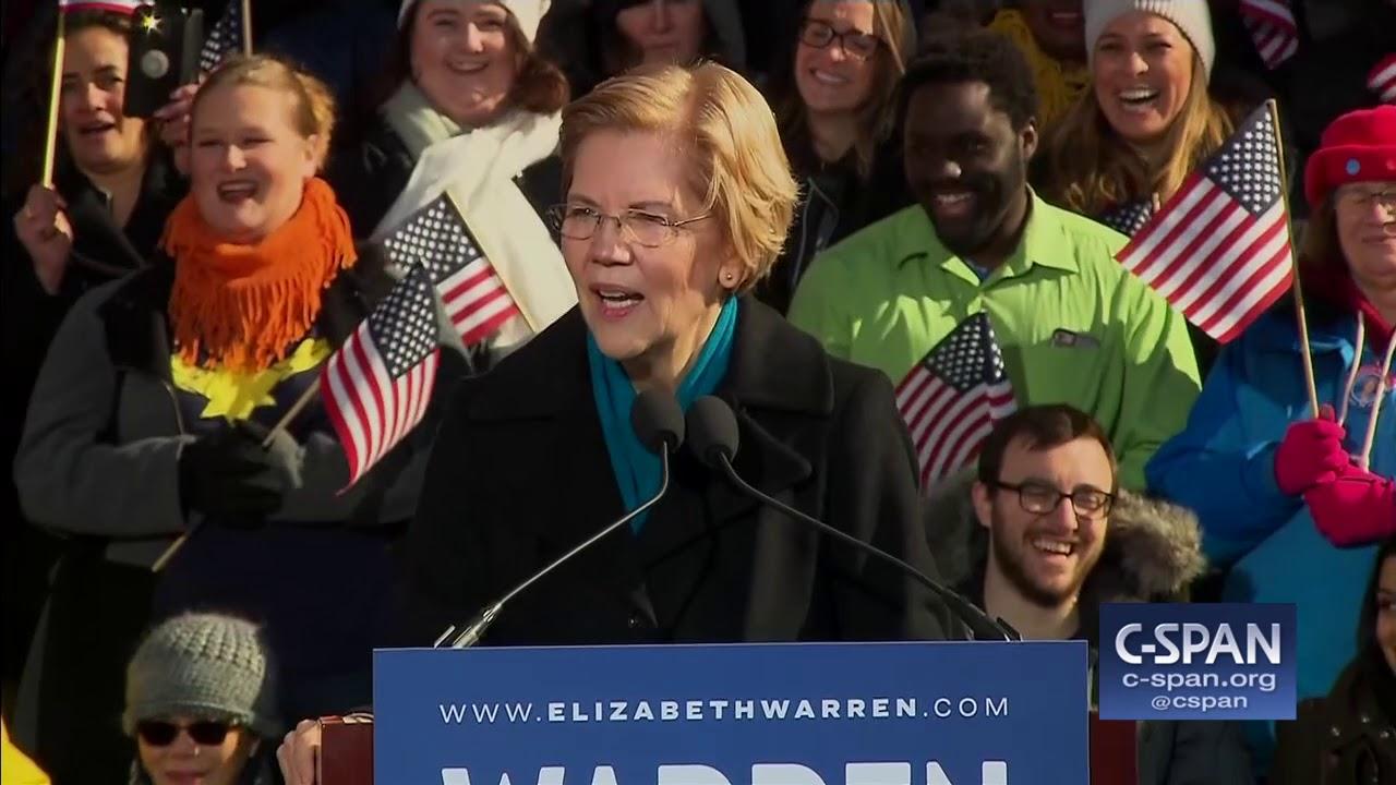 Senator Elizabeth Warren Presidential Campaign Announcement (C-SPAN)