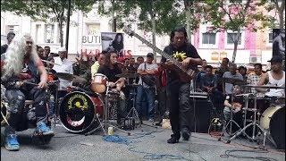 vuclip Enter Sandman -drummer otaii Hafiz cropox feat Sentuhan buskers cover metalicca,power