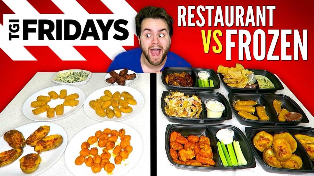 TGI FRIDAY'S APPETIZERS vs  FROZEN VERSION - Restaurant Taste Test!
