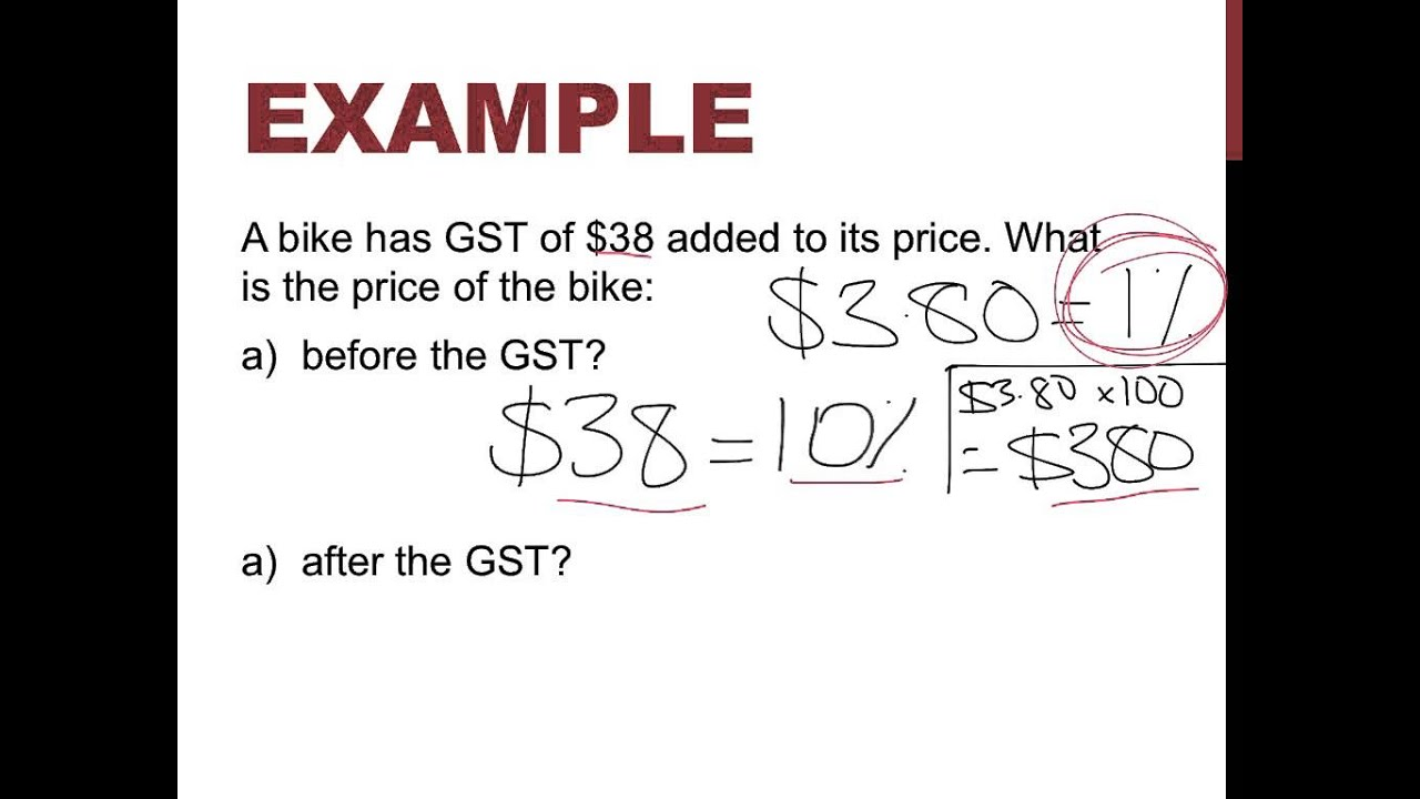 how to find gst in maths