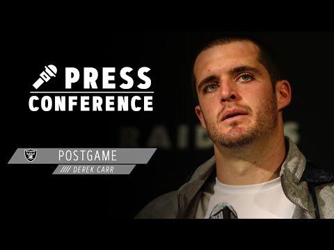 Derek Carr Postgame Presser - 12.8.19 | Raiders