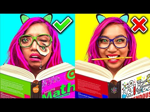 SCHOOL DAY ROUTINE: Expectation vs. Reality! (CC Available)