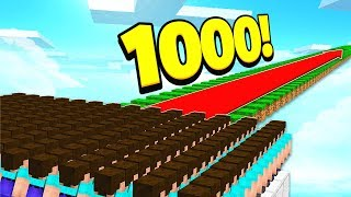 500 FANS vs 1,000 BLOCKS OF MINECRAFT PARKOUR! *RAGEQUIT WARNING*