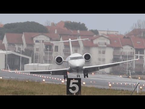 """""""Crosswind LANDING"""" Bombardier CRJ-200  EC-JOD."""