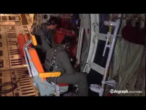Malaysia Airlines crash: on board a search plane