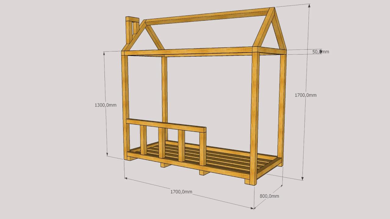 Nowoczesna architektura łóżeczko domek - YouTube QD63