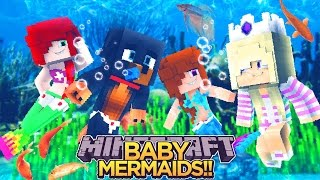 BABY LEAH BECOMES A MERMAID!!! - Minecraft - Little Donny Adventures.