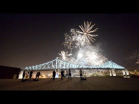 BEST POSSIBLE VIEW, TIMELAPSE of the Inaugural Lighting of Montreal