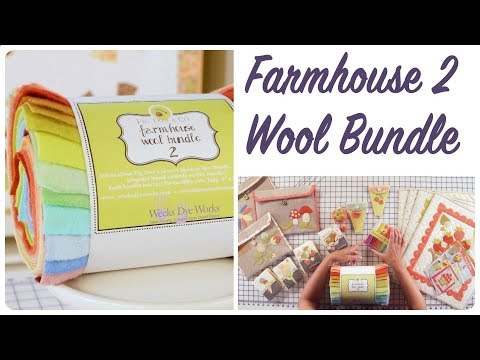 Farmhouse 2 Wool Bundle by Joanna Figueroa of Fig Tree Quilts - Fat Quarter Shop
