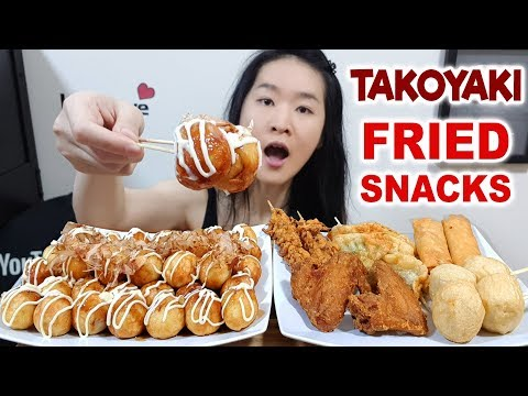 Japanese Takoyaki Balls! Bacon & Cheese, Octopus, Salmon, Gyoza, Fried Chicken | Eating Show Mukbang