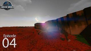 Jurassic World Season 2 Day 4 - T-Rex Exhibit Part 1  (Ark Survival in Minecraft)