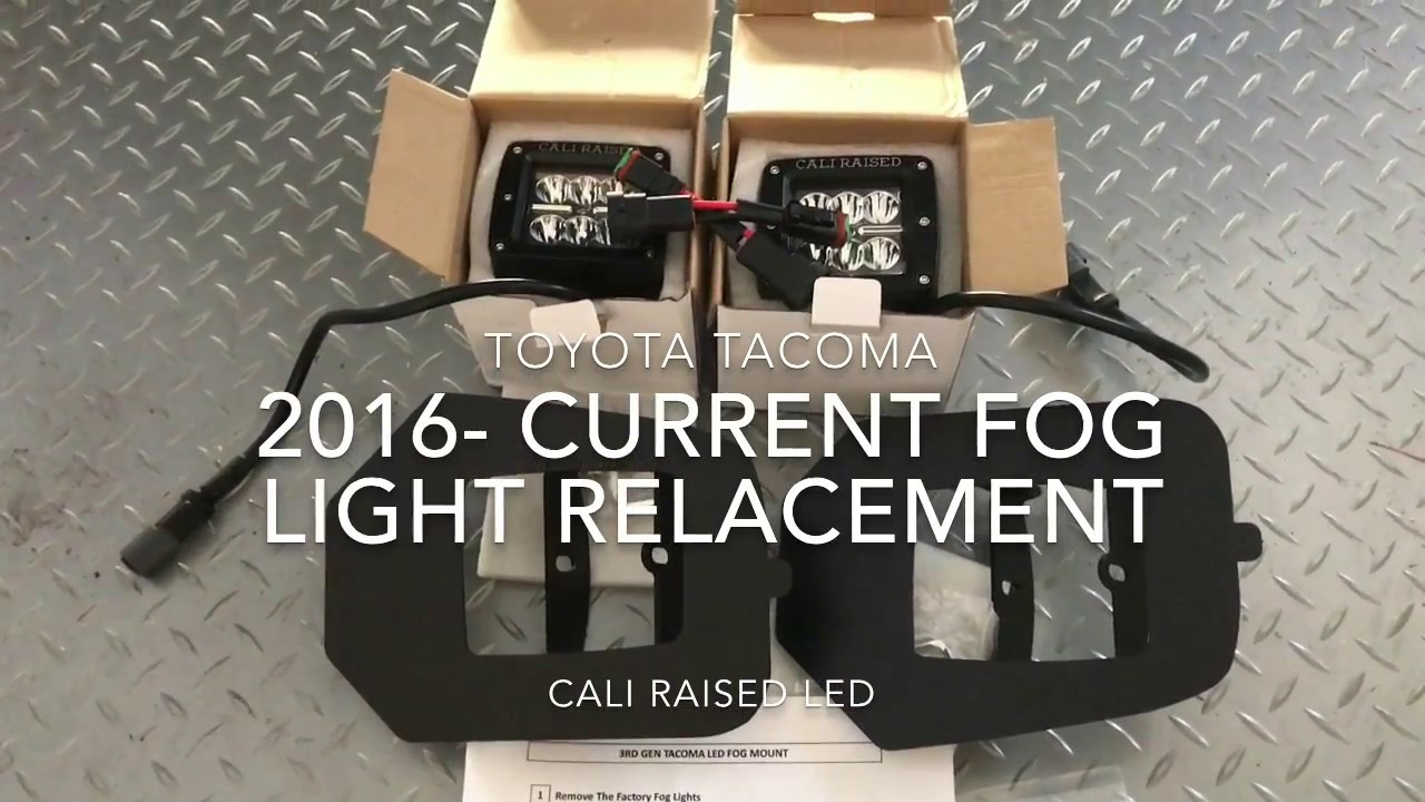 2016 toyota tacoma led pod fog light replacement install [ 1280 x 720 Pixel ]