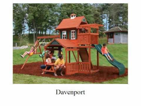 Childrens Wooden Swing Sets