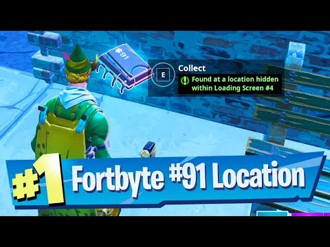 Fortnite Fortbyte #91 Location - Found At A Location Hidden Within Loading Screen #4