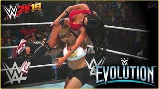 WWE 2K19 : Ronda Rousey vs Nikki Bella - WWE Evolution Full Match