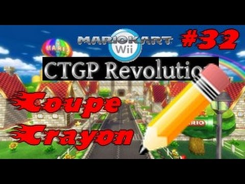 Mario kart wii ctgp revolution 32 coupe crayon youtube for Coupe miroir mario kart wii