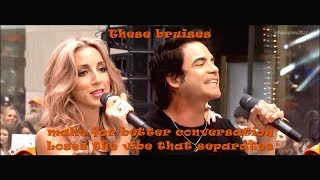 Train - Bruises ( feat. Ashley Monroe )[ live 2013 ]( lyrics )