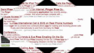 Pinger VoIP app to make free calls and send free sms in USA, Canada, Germany, Spain, International