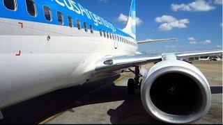 Boeing 737-700 Aerolineas Argentinas Buenos Aires-São Paulo Guarulhos + vuelo sobre Mairiporã