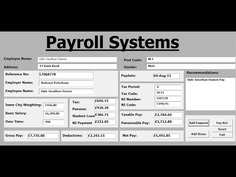 How to Create Payroll Systems in Excel Using VBA - Full Tuto