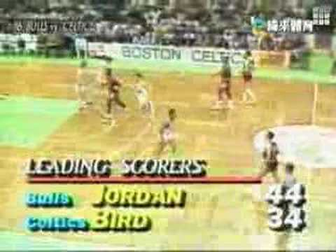 1986 NBA Playoffs - Celtics vs. Bulls [Jordan 63 Points]
