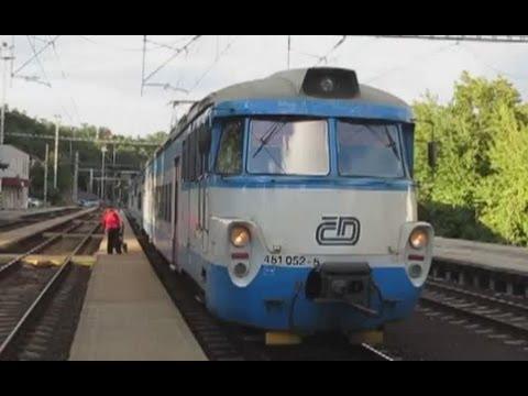 Czech Republic: Zabotlam/Pantograf/City Frog Class 451 EMUs working Kralupy - Praha Masarykovo/Liben