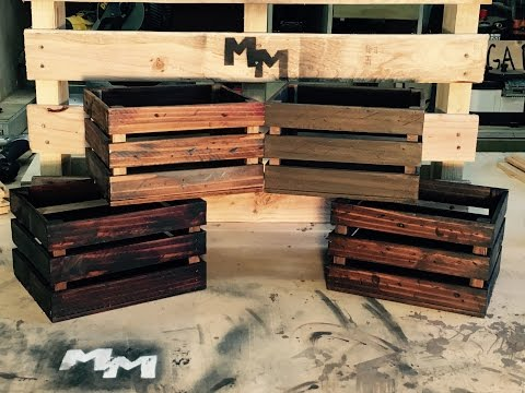 How to Make Rustic Decorative Crates