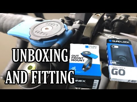 Quad Lock Mount Unboxing & Fitting