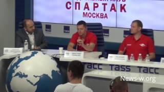 Пресс-конференция о создании в Москве нового гандбольного клуба Спартак. ТАСС