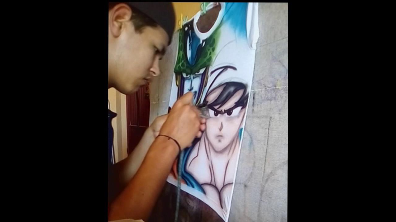 Aerografía de playera en vivo - YouTube eeca219ac7eb7