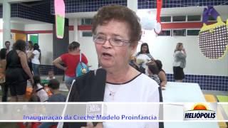 Entrevista Dona Vanda na inauguração da Creche em Heliópolis-Ba