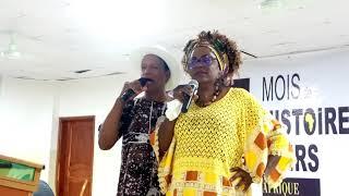 Marie-France MASSEMBO et Moïse Benjamin Benzo - Mois de l'Histoire de Noirs au Bénin, février 2020
