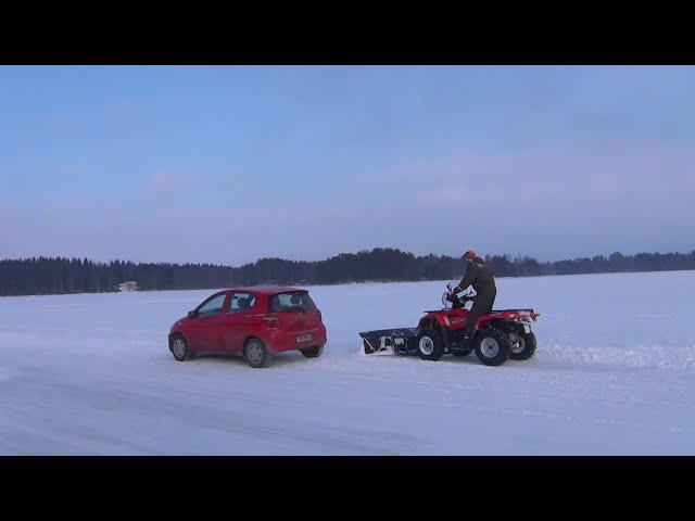 Laivonsaari private ice road - Kallavesi Lake Kuopio