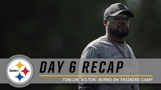 Artie Burns, Mike Hilton, Coach Tomlin recap Day 6 of Pittsburgh Steelers Training Camp