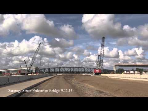 09.11.2015 Saratoga Street Pedestrian Bridge Installation: Timelapse Video