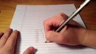 How to draw the monster logo
