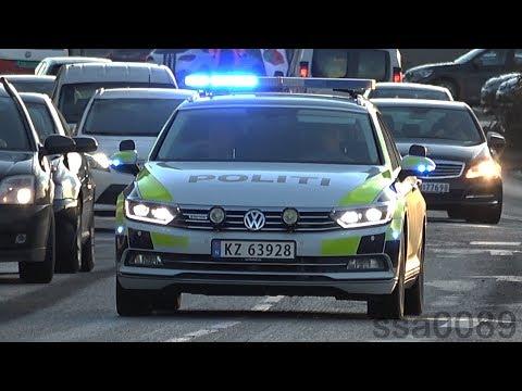 Norwegian police car VW Passat / Politi utrykning Drammen [NO | 12.2016]
