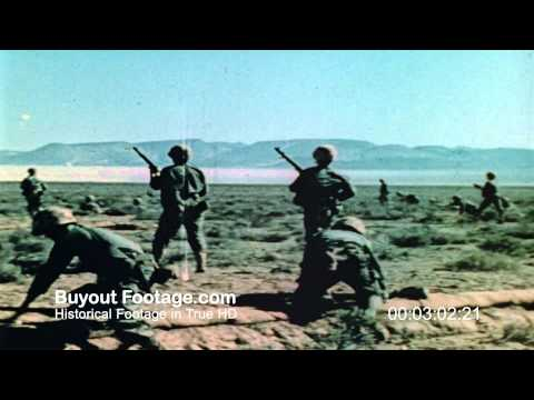 HD Stock Footage Atomic Bomb Test Project Desert Rock 1952