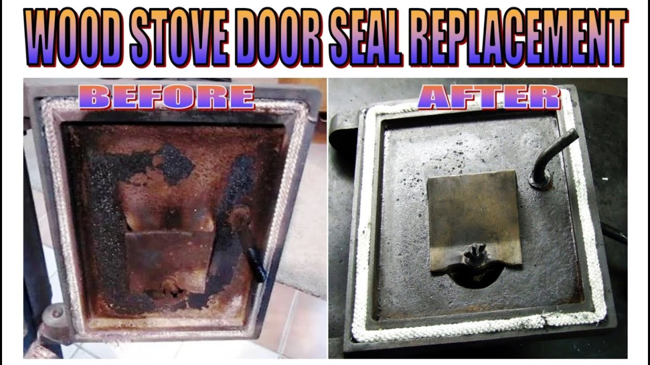 replace wood stove door seal youtube